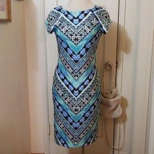 ECI NEW YORK black blues stretch dress